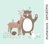 vector illustration  forest... | Shutterstock .eps vector #369182954