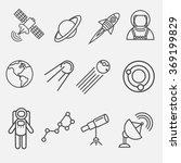 set of modern vector outline... | Shutterstock .eps vector #369199829