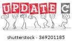 diverse stick figures holding... | Shutterstock .eps vector #369201185