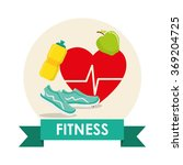gym and fitness icons design  | Shutterstock .eps vector #369204725