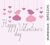 happy valentine's day greeting... | Shutterstock .eps vector #369212141