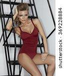 beautiful female in a lingerie... | Shutterstock . vector #369228884