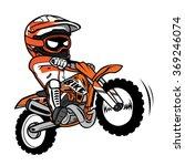 splashing biker motorcycle rider   Shutterstock .eps vector #369246074