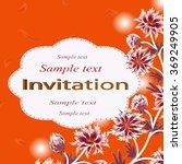 invitation or wedding card... | Shutterstock .eps vector #369249905
