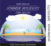 beach ocean | Shutterstock .eps vector #369251771