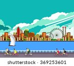 vector illustration promenade... | Shutterstock .eps vector #369253601