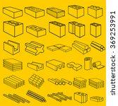 construction building materials ... | Shutterstock .eps vector #369253991
