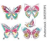 butterflies design | Shutterstock . vector #369259391