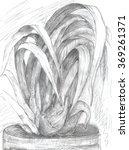 cymbidium orchid flower hand... | Shutterstock . vector #369261371