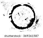 black brush stroke in the form... | Shutterstock .eps vector #369261587
