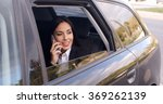 curious business woman on phone ... | Shutterstock . vector #369262139