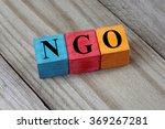 ngo  non governmental... | Shutterstock . vector #369267281