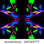sexy female dj mixes in a club  ... | Shutterstock . vector #369269777