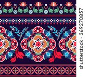 floral seamless pattern. ethnic ... | Shutterstock .eps vector #369270857