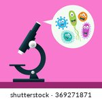 microscope viewing cute...   Shutterstock .eps vector #369271871