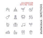 celebration outline icons | Shutterstock .eps vector #369274241