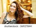 portrait of beautiful smiling... | Shutterstock . vector #36927844