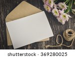 blank greeting card with brown... | Shutterstock . vector #369280025