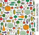 vector seamless pattern with... | Shutterstock .eps vector #369281741