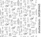 seamless pattern with egyptean... | Shutterstock .eps vector #369284465