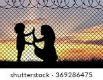 concept of refugee. silhouette... | Shutterstock . vector #369286475