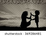 concept of refugee. silhouette...   Shutterstock . vector #369286481