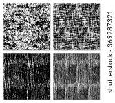 set of 4 black and white ... | Shutterstock .eps vector #369287321