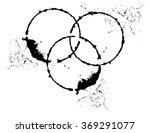 black brush stroke in the form... | Shutterstock .eps vector #369291077