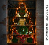 christmas tree made of garland... | Shutterstock . vector #369291761
