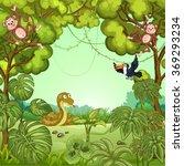 illustration of cartoon animals ... | Shutterstock .eps vector #369293234