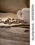 low angle view of coffee beans... | Shutterstock . vector #369303044