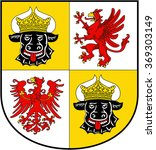 coat of arms of the german... | Shutterstock . vector #369303149