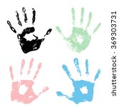 image of human hand silhouette | Shutterstock .eps vector #369303731