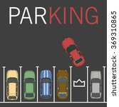vector parking lot illustration.... | Shutterstock .eps vector #369310865