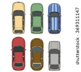vector cars set top view... | Shutterstock .eps vector #369311147
