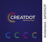 Clever and creative, dots or point letter C logo. Smart and idea logotype | Shutterstock vector #369325229