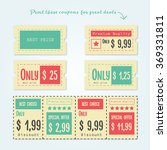 set of coupon  offers and... | Shutterstock .eps vector #369331811