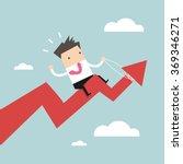 businessman riding success... | Shutterstock .eps vector #369346271