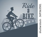 ride a bike design  | Shutterstock .eps vector #369363581