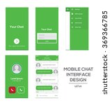 mobile chat interface design...