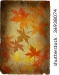 autumn background in retro style | Shutterstock . vector #36938074