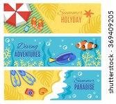 summer holiday vacation... | Shutterstock . vector #369409205