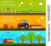 farming banner set | Shutterstock . vector #369410837