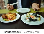 plate with sushi   Shutterstock . vector #369413741
