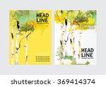 vector brochure flyer design... | Shutterstock .eps vector #369414374