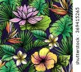 tropical seamless pattern | Shutterstock . vector #369415265