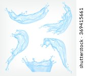 blue water splash. mesh with... | Shutterstock .eps vector #369415661