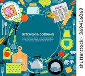 kitchen home cooking concept... | Shutterstock . vector #369416069