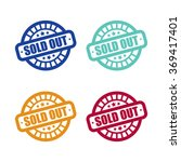 set of sold out stamp labels | Shutterstock .eps vector #369417401
