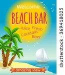 beach bar poster | Shutterstock . vector #369418025